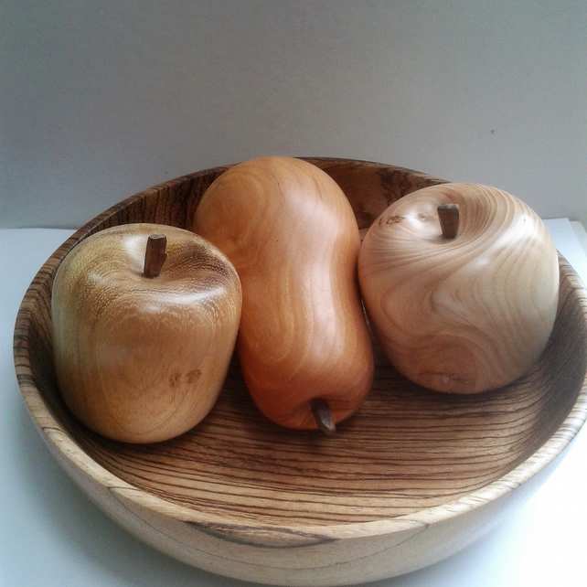 Three Wooden Fruit 734