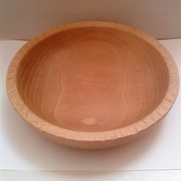 Beech Wood Bowl with Hand Carved Rim 744