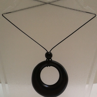 Ebonised  Black Sycamore Pendant 764