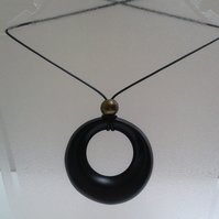 Ebonised  Black Sycamore Pendant 765