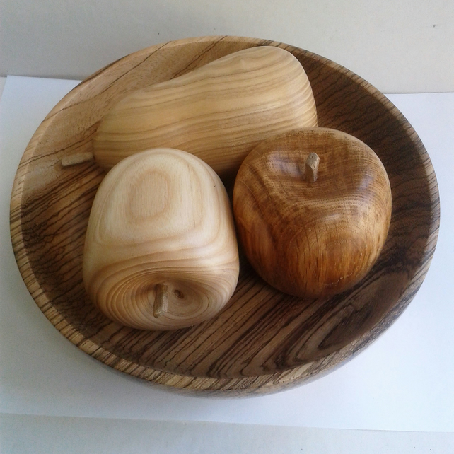 Set of Three Wooden Fruit 757