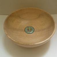 Sycamore Wood Bowl with Enamelled Cabouchon 767