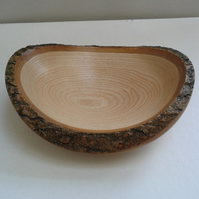 Ash Wood Natural Edge Bowl 781