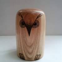 Olive Ash Owl Paperweight 786