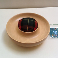 Sycamore Wood Tartan Pin Cushion 792