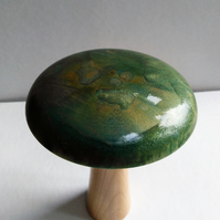Sycamore & Cherry Mushroom with Metallic Blue Green Finish 899