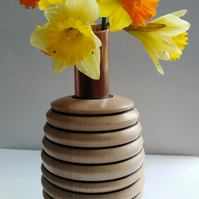 Sycamore and Recycled Copper Tube Vase 921