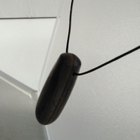 Zebrano Wood Dropper Pendant