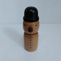 Small Beech Wood Snowman 981