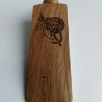 English Oak Wood Dormouse Design Door Wedge 986