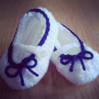 Mary Jane Baby Shoes pram shoes crochet