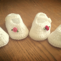 Mary Jane's Crocheted Baby Pram Shoes