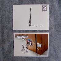 Poly in Pictures webcomic: pack of 5 postcards