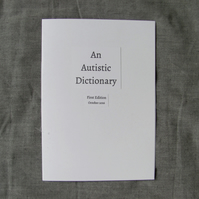An Autistic Dictionary (zine)