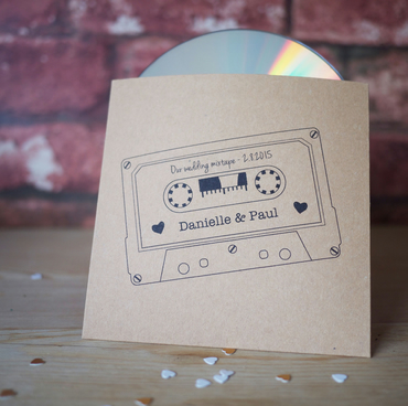 10x personalised mixtape style CD cover - sleeves wedding favours