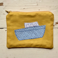 100% Cotton Applique Boat Purse