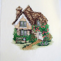 cottage cross stitch for a new home or house warming gift