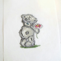 me to you teddy bear cross stitch picture, ready to frame for the nursery