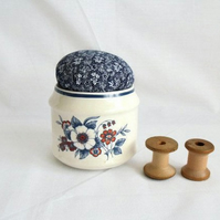 novelty ceramic pot pin cushion for the sewing person in your life