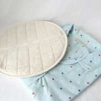 quilted pyjama case, nightwear bag for your nighty, cream broderie anglaise