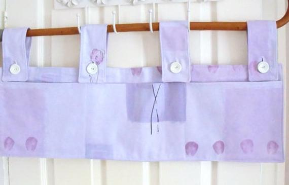 lilac hanging bunk bed tidy with pockets or to use as a cot or crib tidy