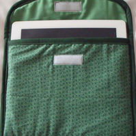 green i pad padded sleeve, screen protector, 10 x 8.5""