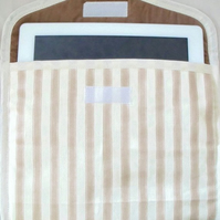 """i pad padded sleeve for larger devices, screen protector, 10 x 8"""" beige"""