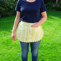 vintage style yellow and green polycotton half pinny for baking