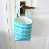 door handle storage bag or gear stick bag, mint green wave fabric