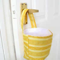 door handle storage bag or gear stick bag, yellow wave fabric