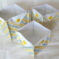 set of three graduated folded fabric storage tubs for your nik naks