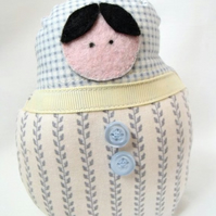 small graduated russian matryoshka nesting display art doll, 4.5 inches