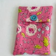 pink floral  cotton tampon holder, discrete tampax pouch for your bag