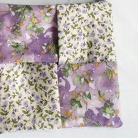 lilac floral cotton sanitary towel holder, discrete towel pouch for your bag