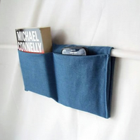 gents zimmer frame mobility caddy, denim fabric