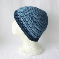 unisex crocheted cotton chemo hat or hair loss cap from alopecia