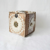 embellished cottage chic vintage style storage box
