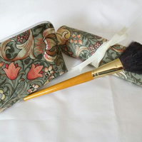 william morris floral make up gift set, toiletry bag and make up brush holder