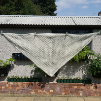 oatmeal lightweight crocheted shawl