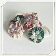 Set of 2 CUTIE YoYo Flower Hair Band for Girls