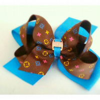 Ribbon Hair Flower Bow LV