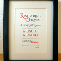 Ring-A-Ring O' Roses - Letterpress Print A5