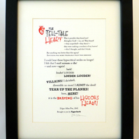The Tell-Tale Heart - Letterpress Print A5