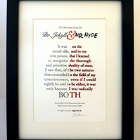 Dr Jekyll and Mr Hyde - Letterpress Print A5