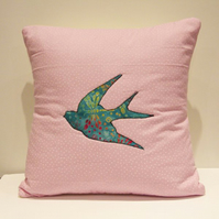 Applique Swallow Cushion