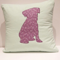 Applique Dog Cushion