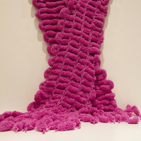 Purple snowball scarf