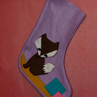 Lilac Fox Stocking