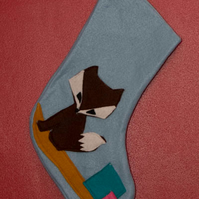 Blue Fox Stocking
