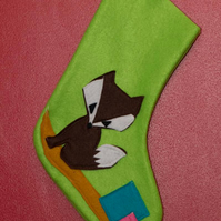 Green Fox Stocking